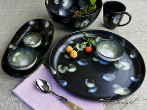 Dappled Round Serving Platter