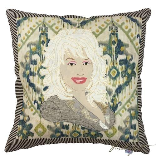 Dolly Parton Artfully Handcrafted Pillow-Fussbudget.com