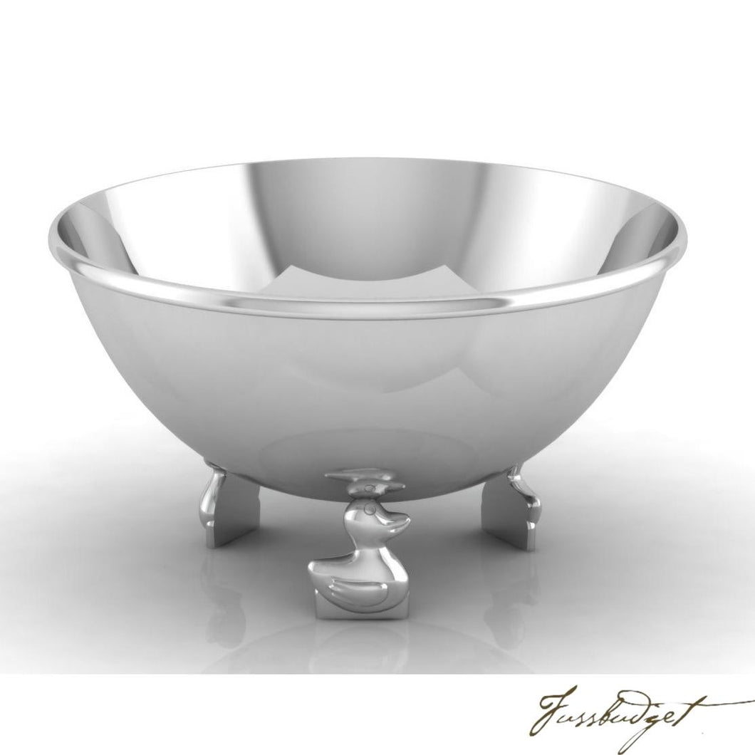 Duck Sterling Silver Baby Bowl-Fussbudget.com