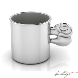 Sterling Silver Elephant Baby Cup-Fussbudget.com