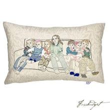 Load image into Gallery viewer, Commissioned Pillow with Your Pet, Family or Other Memories-Fussbudget.com
