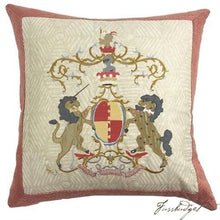 Load image into Gallery viewer, Commissioned Pillow with Initials or Family Crest-Fussbudget.com