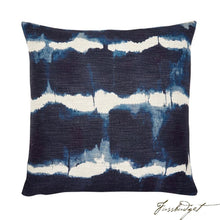 Load image into Gallery viewer, Gilbert Pillow - Navy-Fussbudget.com