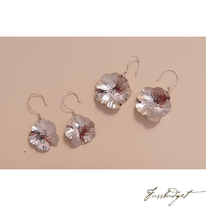 Sterling Silver Pear Blossom Earrings-Fussbudget.com