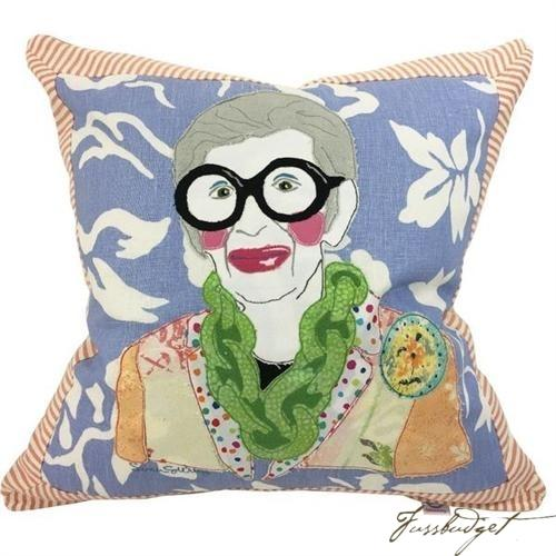Iris Apfel Custom Made Pillow-Fussbudget.com