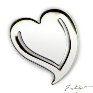 Heart Sterling Silver Baby Bookmark-Fussbudget.com