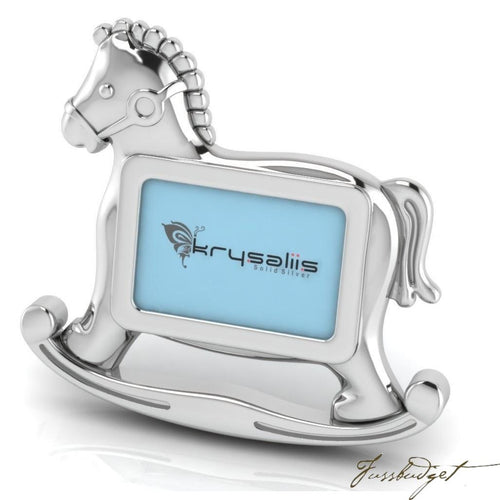 Horse Sterling Silver Baby Picture Frame-Fussbudget.com