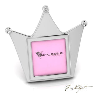 Crown Sterling Silver Baby Picture Frame-Fussbudget.com