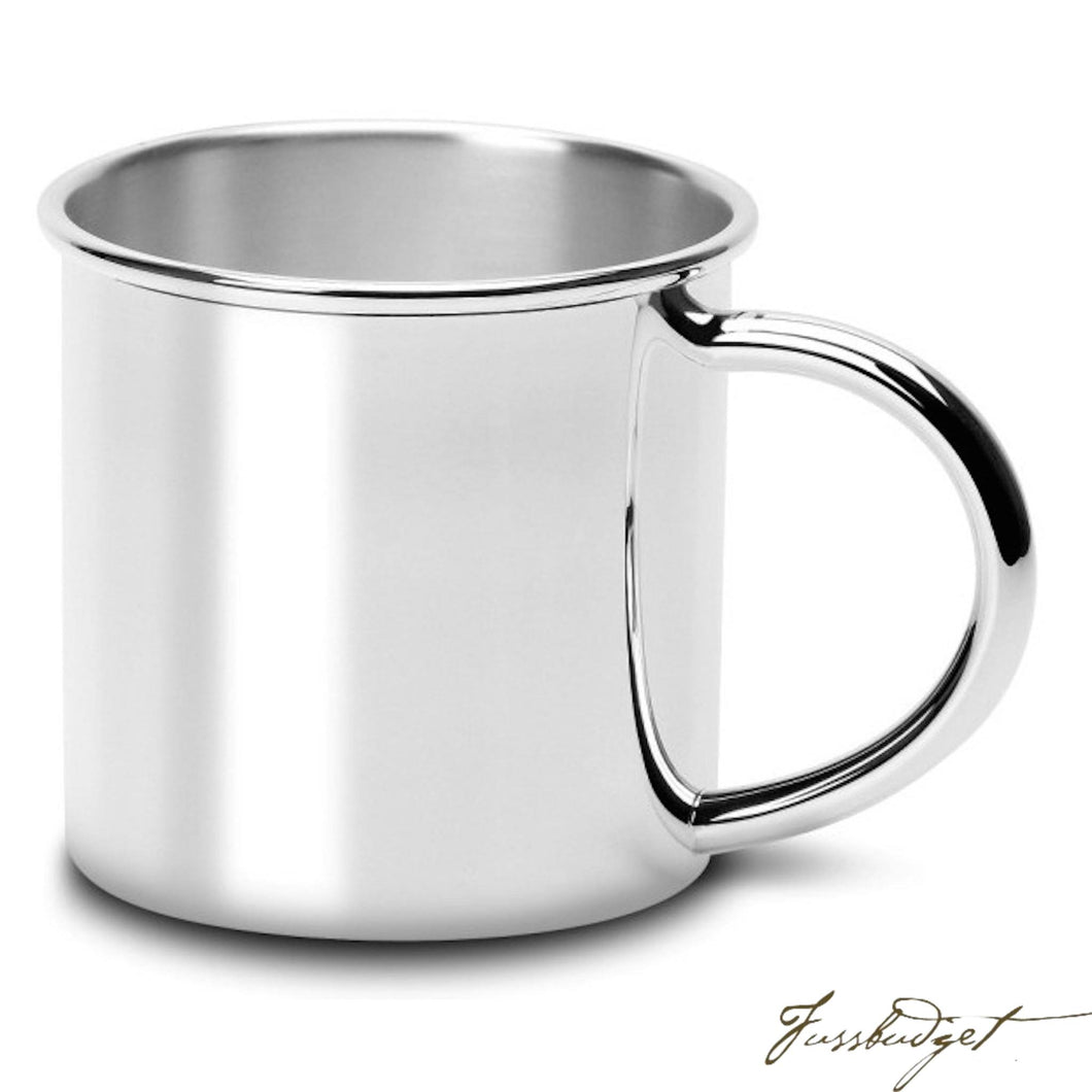 Traditional Silver Plated Baby Cup-Fussbudget.com