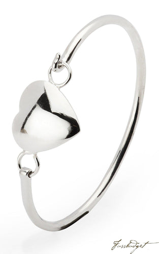 Krysaliis Sterling Silver Baby Heart Bracelet Bangle