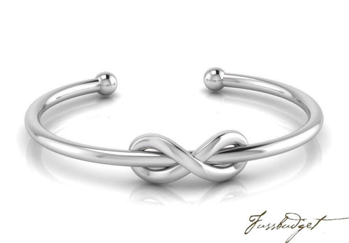 Expandable Love Knot Sterling Silver Baby Bracelet Bangle