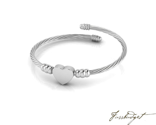 Expandable Twisted Love Sterling Silver Baby Bracelet Bangle