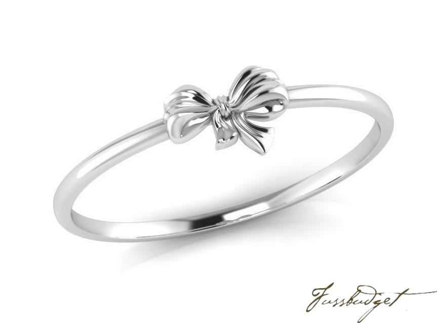Bow Sterling Silver Baby Bracelet Bangle
