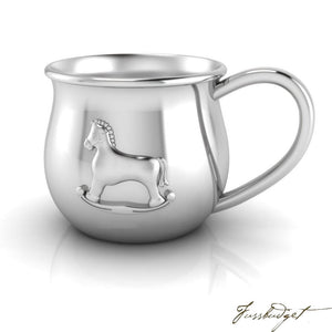 Horse Silver Plate Baby Cup