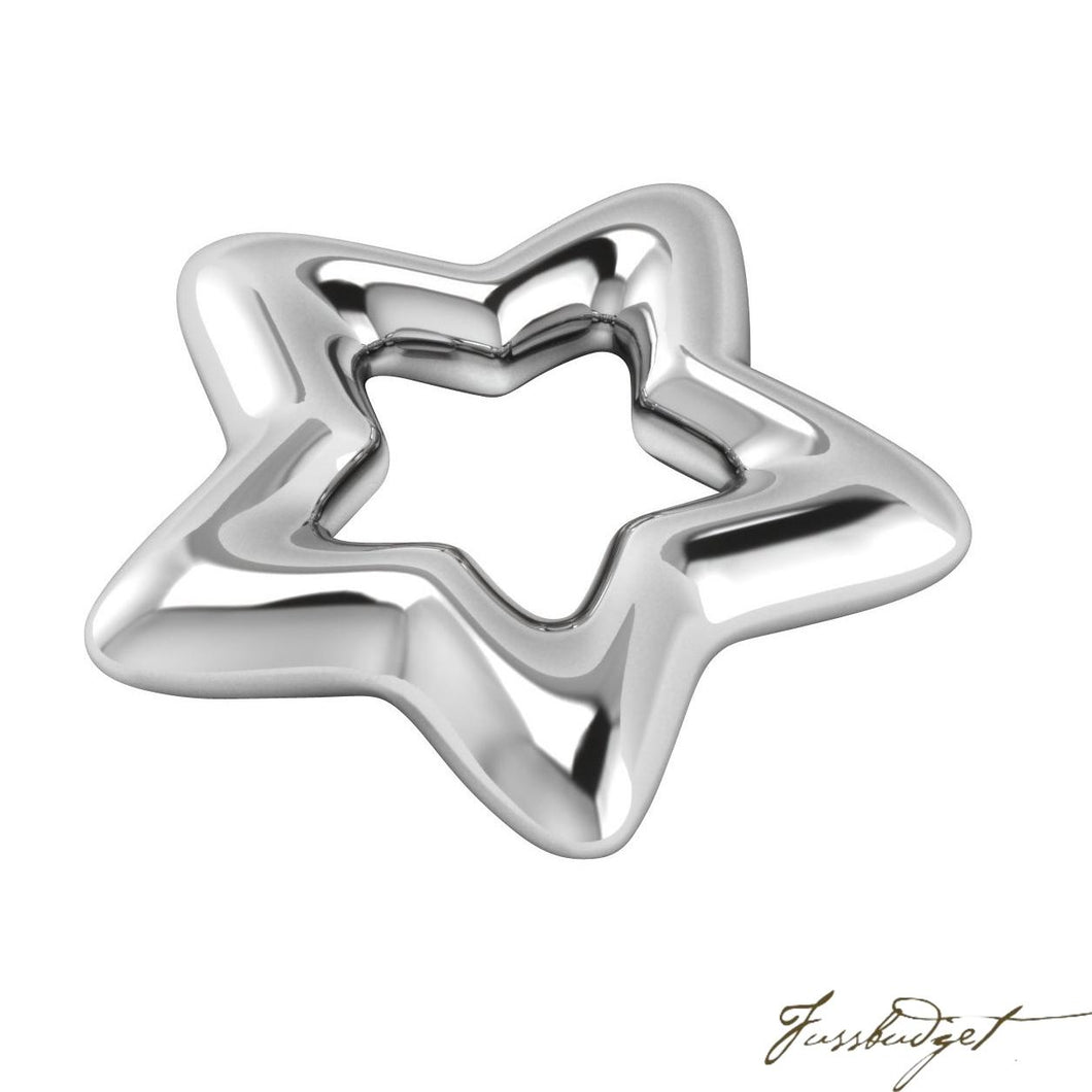 Baby Silver Plated Star Rattle