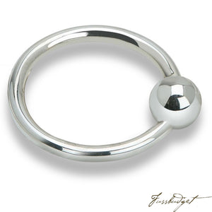 Sterling Silver Single Ring Teether Rattle-Fussbudget.com