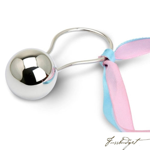 Sterling Silver Ball Baby Rattle-Fussbudget.com