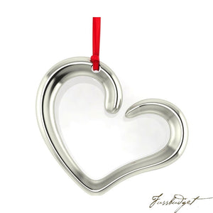Sterling Silver Heart Christmas Ornament-Fussbudget.com