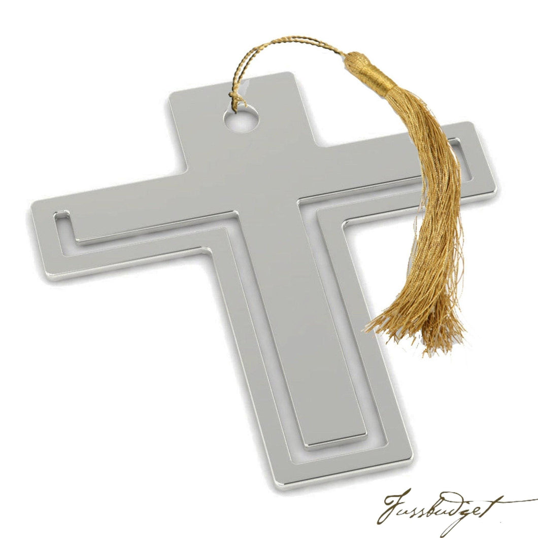 Sterling Silver Cross Bookmark-Fussbudget.com