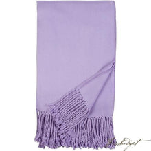 Load image into Gallery viewer, Luxxe Fringe Throw - Lavender-Fussbudget.com