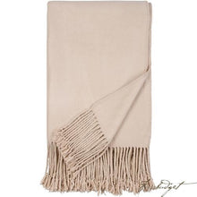 Load image into Gallery viewer, Luxxe Fringe Throw - Nude-Fussbudget.com