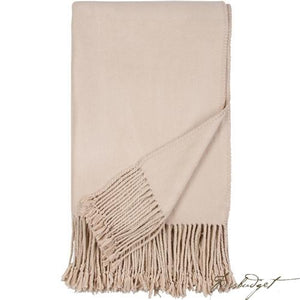 Luxxe Fringe Throw - Nude-Fussbudget.com