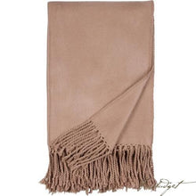 Load image into Gallery viewer, Luxxe Fringe Throw - Sand-Fussbudget.com
