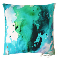 Load image into Gallery viewer, Peacock Mist Outdoor Pillow-Fussbudget.com