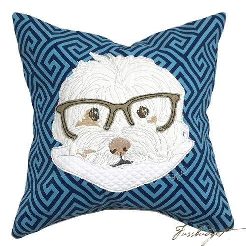 Commissioned Pillow with Your Pet-Fussbudget.com