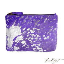 Load image into Gallery viewer, Bailey - Cowhide Leather Pouch - Amethyst-Fussbudget.com