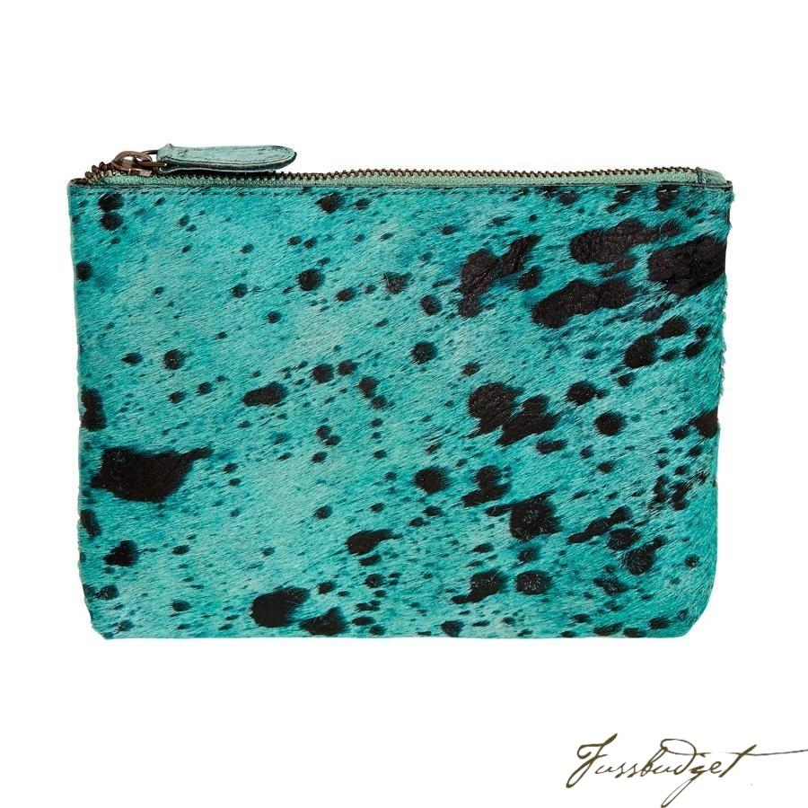 Bailey - Cowhide Leather Pouch - Capri-Fussbudget.com