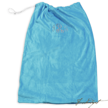 Load image into Gallery viewer, Personalized Laundry Bag-Terry Velour (Monogram or Name)-Fussbudget.com