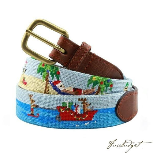 Tropical Christmas Needlepoint Belt