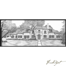 Load image into Gallery viewer, Detailed Pencil Drawings of your Home or other Structures-Fussbudget.com