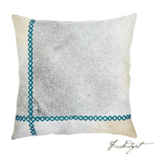 Load image into Gallery viewer, Windsor Pillow - Turquoise-Fussbudget.com