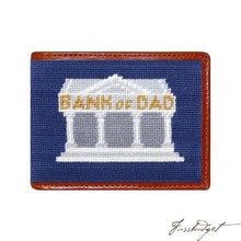 Load image into Gallery viewer, Bank of Dad Needlepoint Bi-Fold Wallet Final Sale