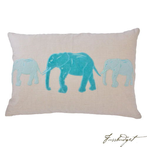 Big Al Pillow - Whispering Blue-Fussbudget.com