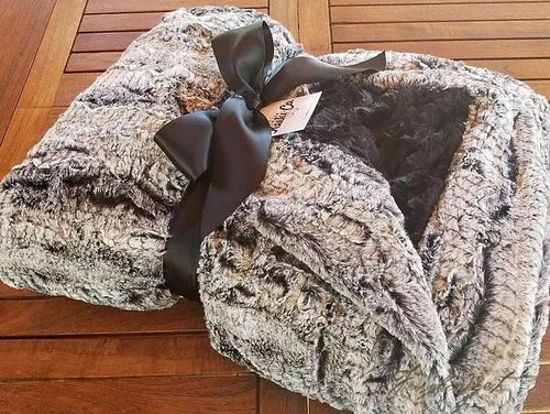 BIRCH/BLACK COUTURE THROW