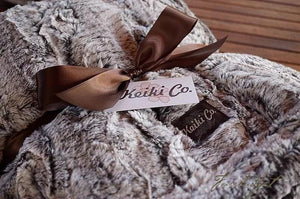 BIRCH/ESPRESSO COUTURE THROW