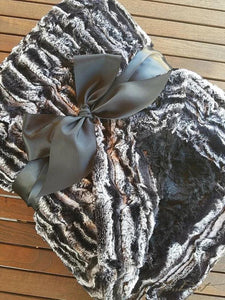 BLACK MARBLE COUTURE THROW