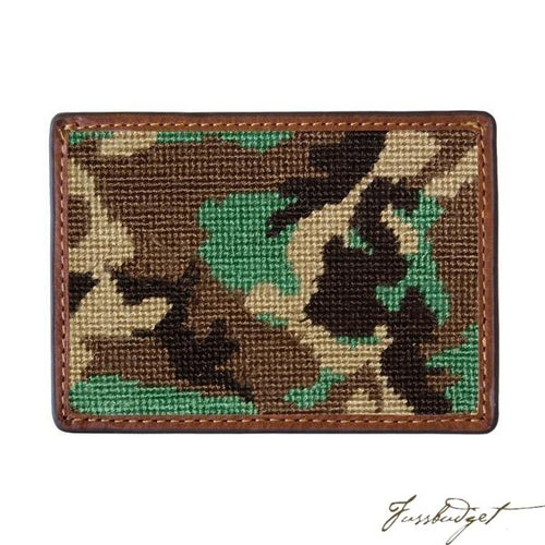 Camo Needlepoint Card Wallet