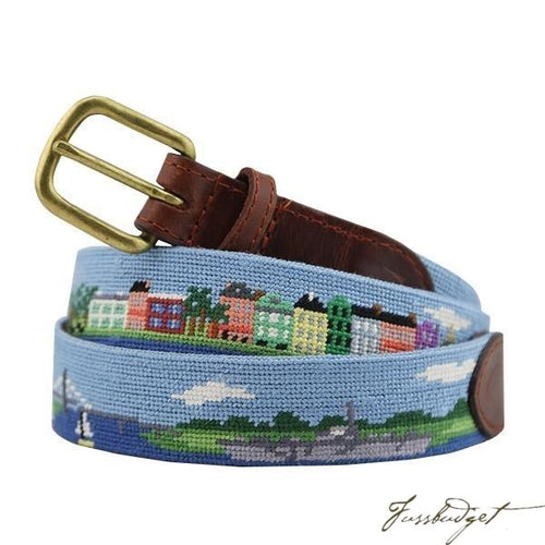 Charleston Scene Needlepoint Belt