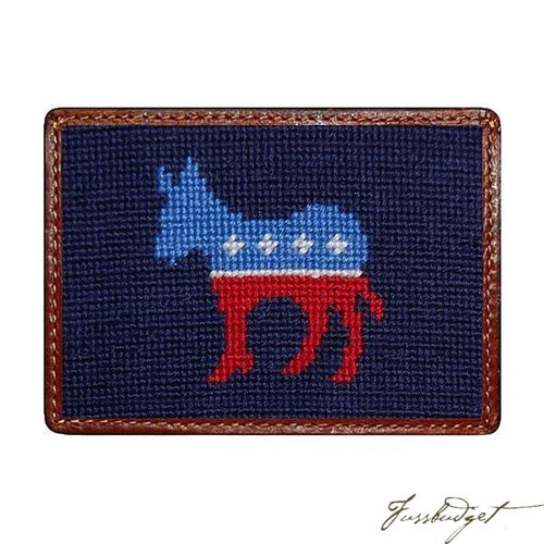 Democrat Needlepoint Card Wallet