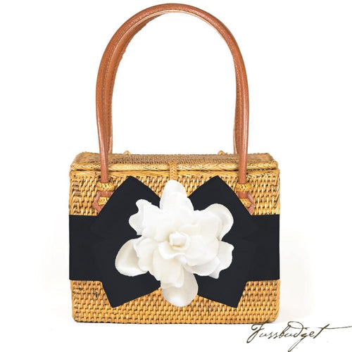 Emory with Gardenia with Black Ribbon