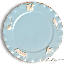 Load image into Gallery viewer, Cat Whisker Plate - Sky Blue