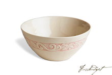 Load image into Gallery viewer, Flower Garden Medium Serving Bowl - Pink