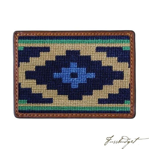 Gaucho Needlepoint Card Wallet