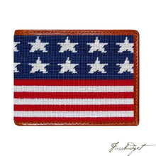 Load image into Gallery viewer, Old Glory Needlepoint Bi-Fold Wallet