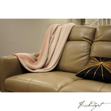 Load image into Gallery viewer, Cotton throw blanket - Marici Collection - Cream/Light Pink-Fussbudget.com