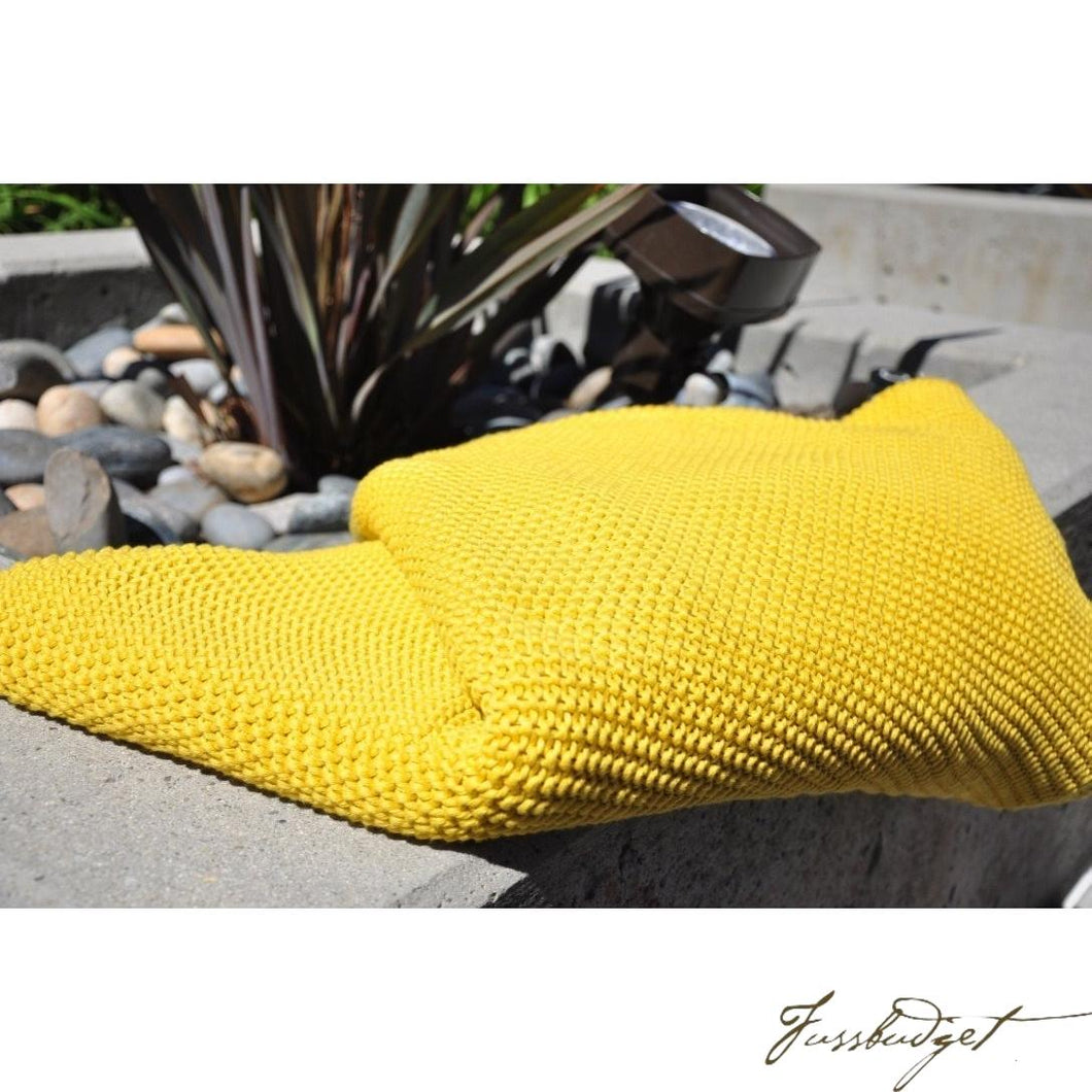 Cotton Throw Blanket - Varna Collection - Bright/Beach/Yellow-Fussbudget.com
